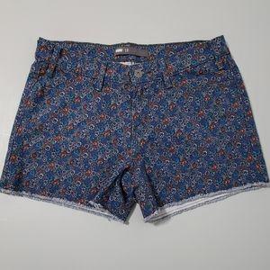 Levi's silver tag floral shorts size 10 frayed hem
